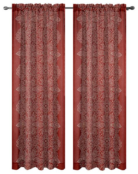 Southwestern Kitchen Curtains Urbanest Bandhini Drapery Curtain Panels Southwestern Curtains By Urbanest Living