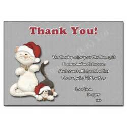 Thank You Letter Xmas Gift Purrfect Christmas Thank You Note