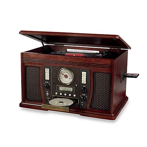 bed bath and beyond turntable innovative technology victrola wooden turntable bed