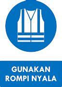 Sticker Safety Sign K3 Perhatian Gunakan Rompi Nyala 30cm Wskim 082 rambu k3 kumpulan rambu kewajiban k3 safety sign ahli k3 umum