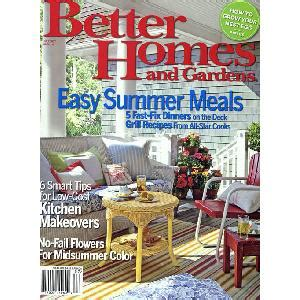 free better homes and gardens magazine 1 yr subscription