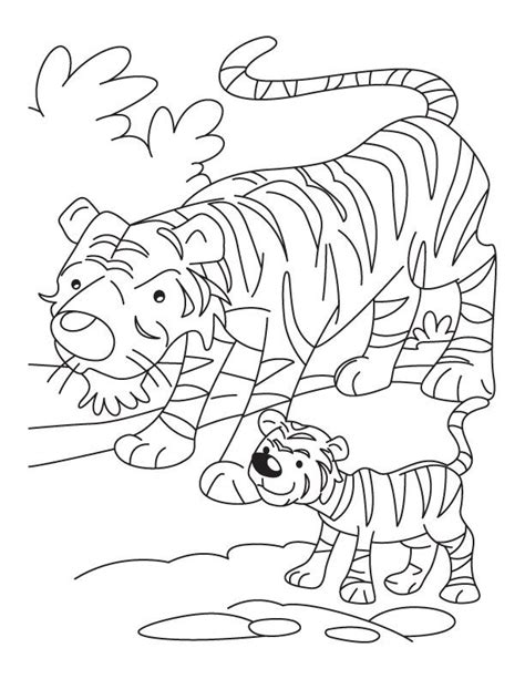 coloring pages of a tiger coloring home