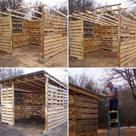 construir un cobertizo de madera c 243 mo hacer un cobertizo de madera con pal 233 s reutilizados