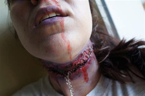 imagenes de heridas para halloween tutorial maquillaje halloween herida o corte en el cuello