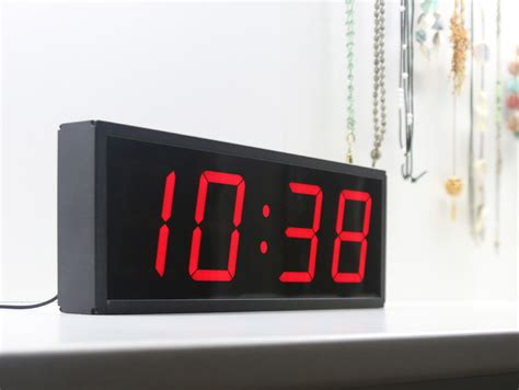 oversized led clock jadco time large led clock timer jadco time