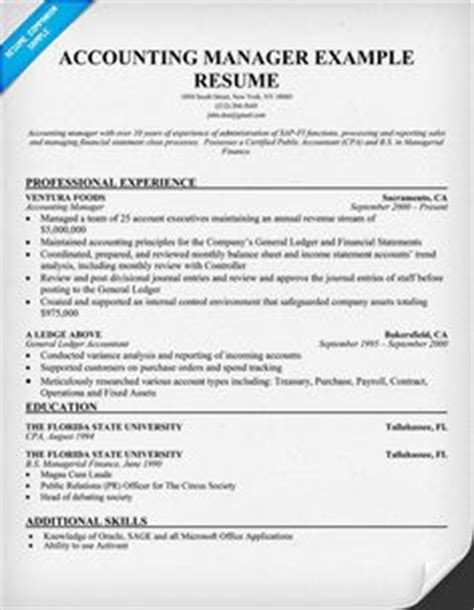 Resume Template Accounting Manager 1000 Images About Accounting Internships On Accounting Resume And Forensic Accounting