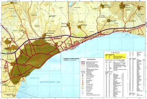maps maps limassol maps limassol area map and limassol city map