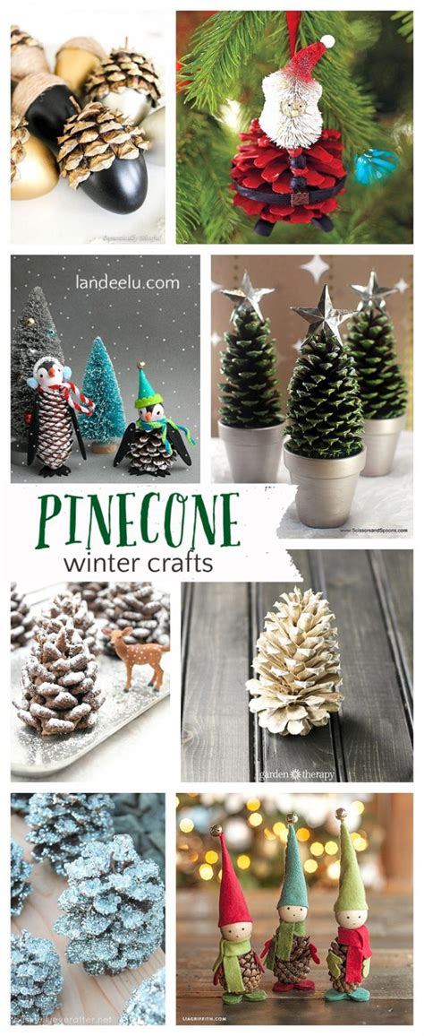 pretty winter crafts using pinecones landeelu - Pinecone Crafts For