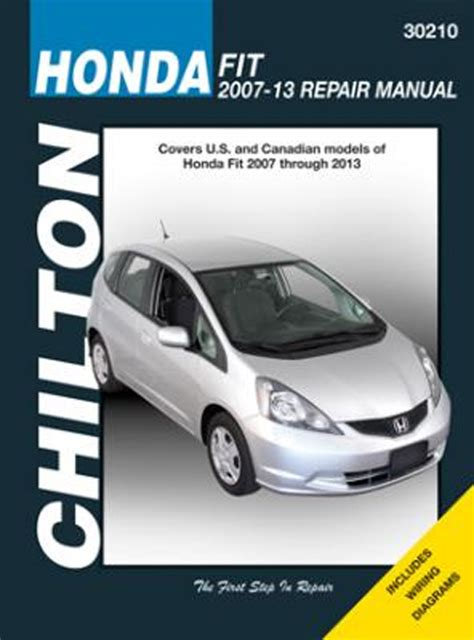 service manual chilton car manuals free download 2007 honda fit chilton repair manual 2007 2013 hay30210