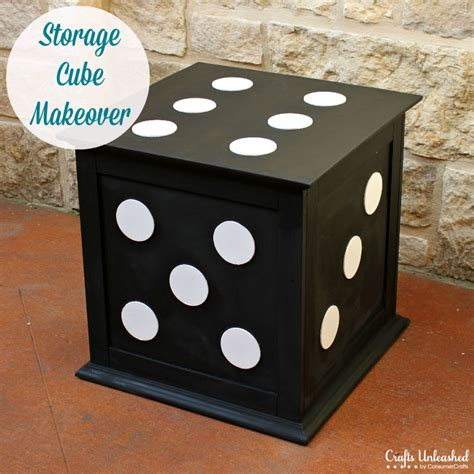 Diy Storage Ottoman Cube Diy End Table Storage Cube Furniture Makeover
