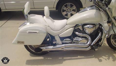 Suzuki M109 Saddlebags Vzr 1800 Vl Slanted Painted Motorcycle Saddlebags For Suzuki