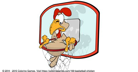 basketball chicken coloring games and coloring pages