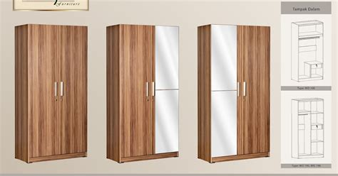Lemari Pakaian Ligna 2 Pintu lemari baju 2 pintu cermin polos lemari pakaian murah
