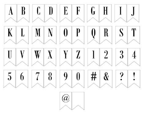 printable letter templates for banners free printable banner letters