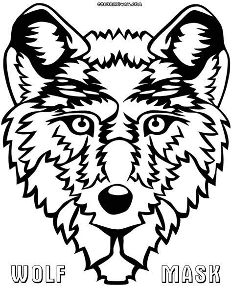wolf mask coloring page m wolf mask coloring page coloring pages