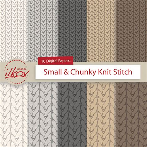 pattern paper for knitting chunky knit stockinette knit digital paper for scrapbooking