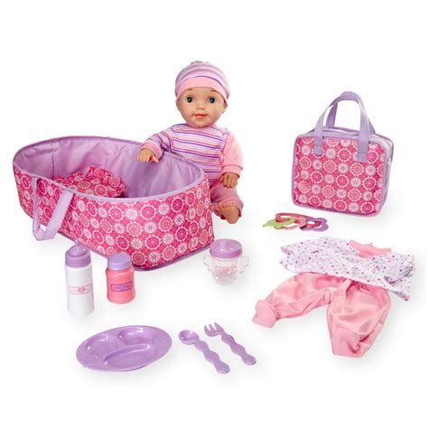 Hq 10445 Set Toppants Pink Blue you me 16 inch lovely baby deluxe set caucasian toys