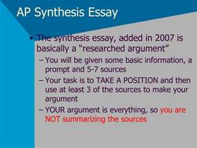 How To Write A Synthesis Essay by Ppt Ap Synthesis Essay Powerpoint Presentation Id 2800187
