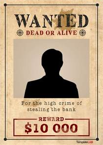wanted sign template 29 free wanted poster templates fbi and west
