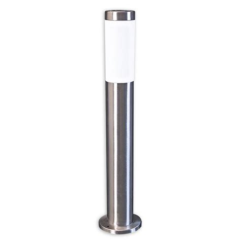New Solar Stainless Steel Post Light 60cm Garden Driveway Stainless Steel Solar Post Light