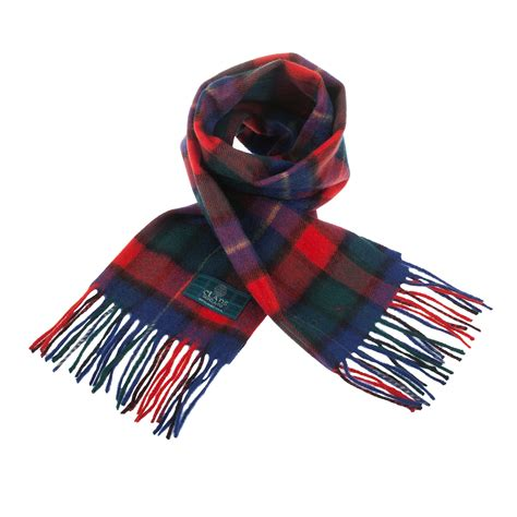 heritage of scotland 100 wool clan tartan scarf history