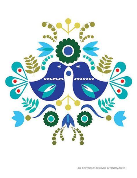 pattern making artinya scandinavian folk art spring blue love bird flower art