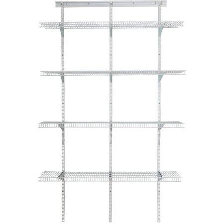 closetmaid shelf track 4 utility org kit white walmart