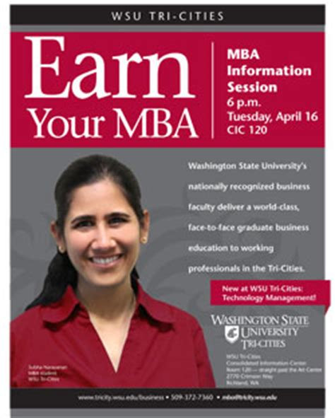 Washington State Mba by Learn How To Earn Your Mba At Wsu Tri Cities Event Wsu