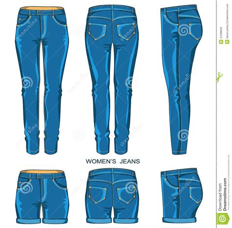 free design jeans womens dress pants clipart