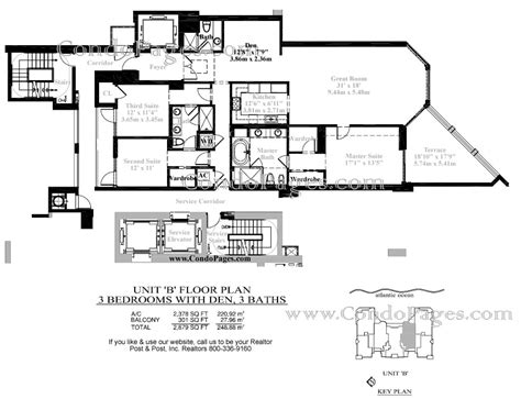 las olas beach club floor plans las olas beach club floorplans quot b quot