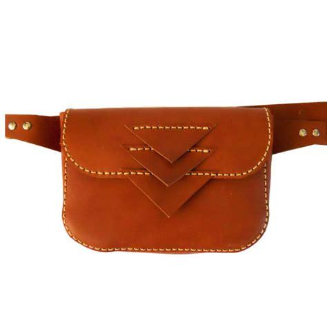 Handmade Leather Bags Canada - jocelyn leather hip bag handmade hip purse leather pocket