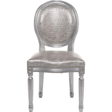 Silver Croco spisebordsstol louis silver croco antique s 248 lvfarvet
