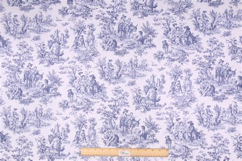 navy drapery fabric 10 yards waverly rustic toile printed cotton drapery