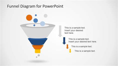 powerpoint funnel diagram creative funnel diagram template for powerpoint slidemodel