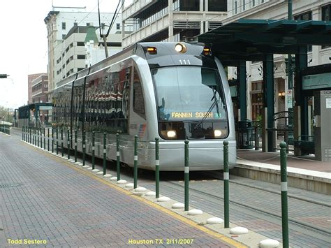 Light Rail System the houston light rail system