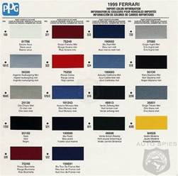 automotive paint color charts zimbio