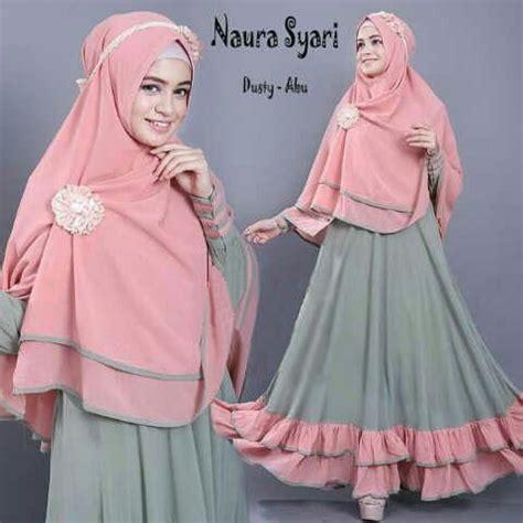 Naura Syari Dusty Abu by Gamis Syar I Modern Naura Dusty Abu Http Warongmuslim