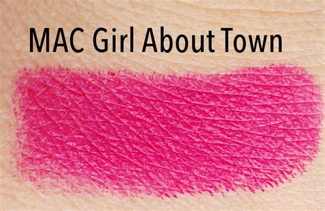 girl about town lipstick mac cosmetics girl about town lipstick review swatch and