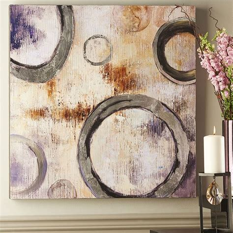 gift craft home decor giftcraft 086266 circle design oil painting on canvas