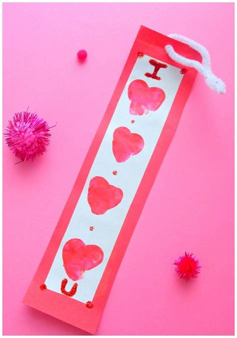 valentines bookmarks valentines thumbprint bookmark in the playroom