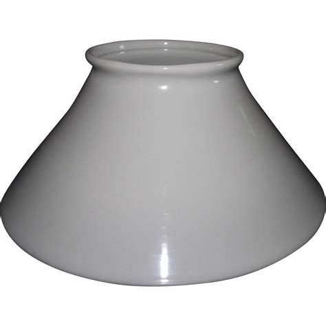 blown white glass slant shade with 4 5 8 inch top