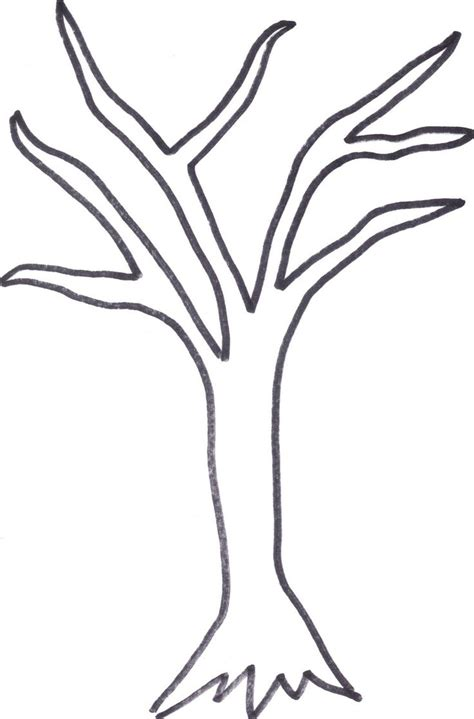 Printable Tree Trunk Here Is The Tree Outline If Anyone Wants To Cut It Out Or Print It Out For Tree Template