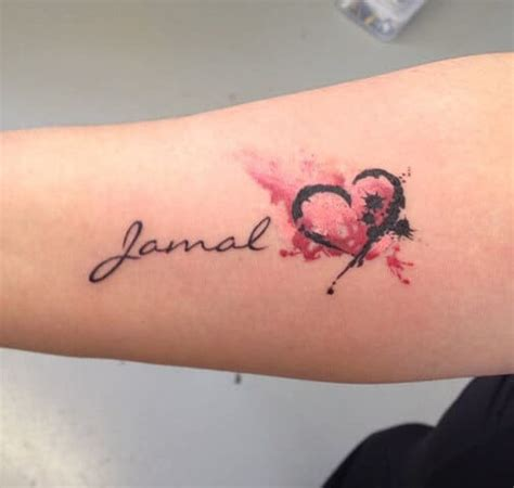 tattooed heart zing name tattoos for women ideas and designs for girls