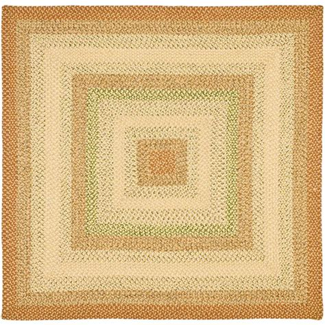 6 ft rug safavieh braided rust multi 6 ft x 6 ft square area rug brd303a 6sq the home depot