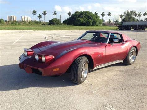1975 chevrolet corvette stingray for sale 37 used cars from 6 325 sell used 1975 chevrolet corvette stingray in hallandale florida united states