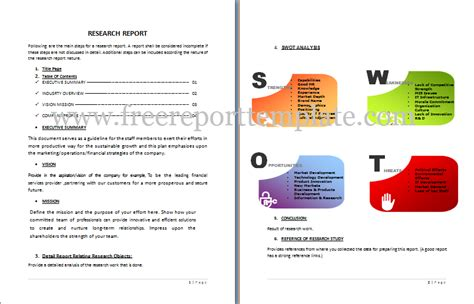 free report templates microsoft word research report template free report templates