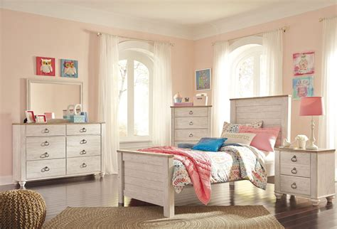 whitewash bedroom set willowton whitewash panel bedroom set b267 53 52 83 ashley
