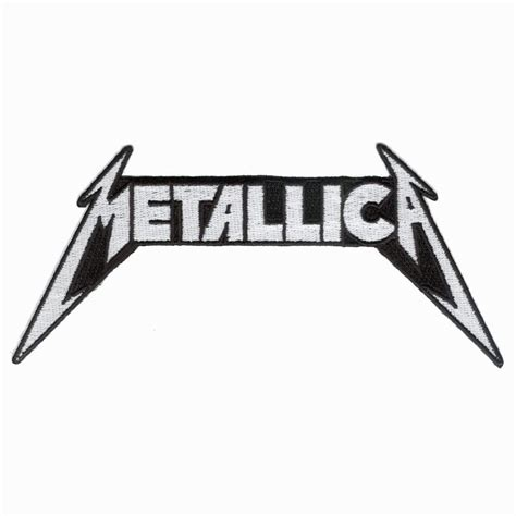 metallica logo metallica logo die cut embroidered patch metallica
