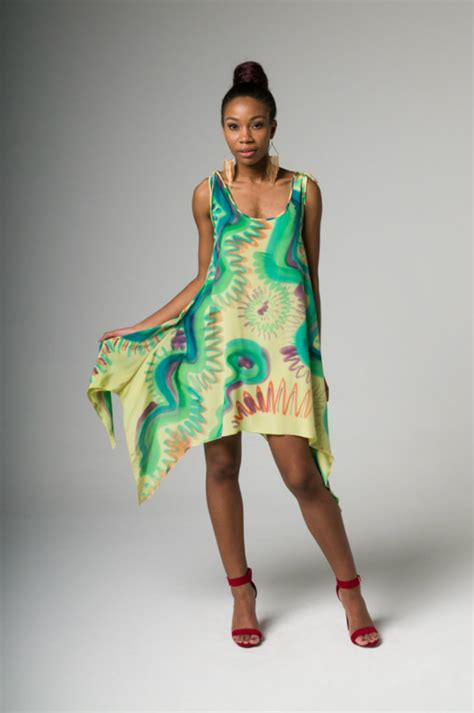 Dress Paint painted silk dresses and separates paul cormack new york city artist fashion designer