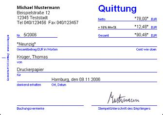 Quittung Schreiben Muster Keseling Software Quittung Bildschirmfoto